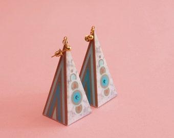 """Geometric Earrings // Statement Earrings // Marble Earrings // Graphic Earrings // Op Art Earrings // Art Deco Earrings // The """"Hi-Fi"""""""