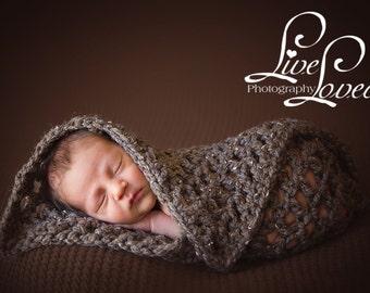 Download PDF crochet pattern s016 -Chunky mini-blanket