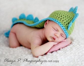 Download PDF crochet pattern 042 - Dino hat - Multiple sizes from newborn through 12 months