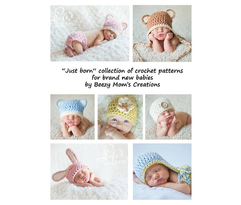 Find free crochet patterns for newborns and older in this adorable collection.