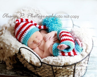 Download PDF crochet pattern - Stocking hat and leg warmers