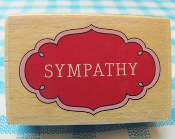 Pink Sympathy Rubber Stamp