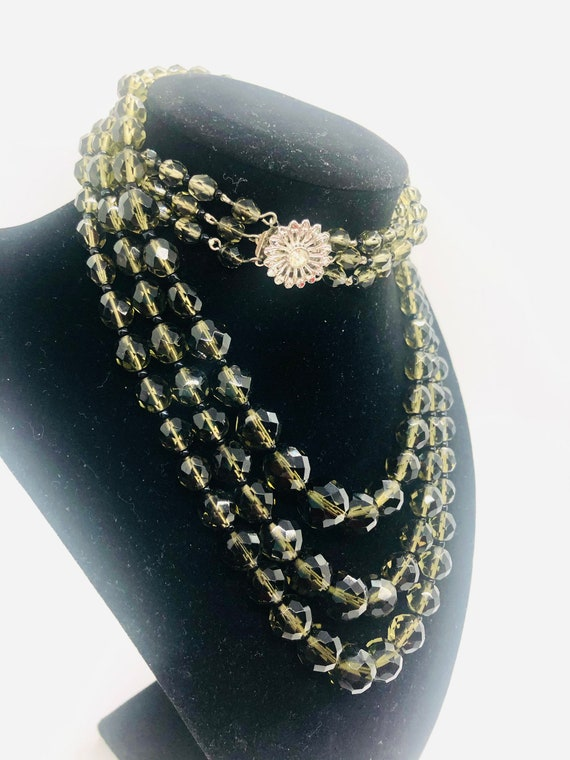 Vintage Triple Strand Italy Made Beaded Necklace
