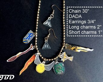 Harry Potter Quidditch Charm Necklace/Earring Set