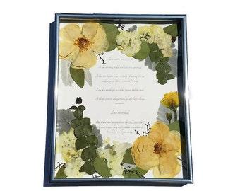 Wedding Flower Preservation - Real Pressed Flower Anniversary Gift - Bouquet Preservation