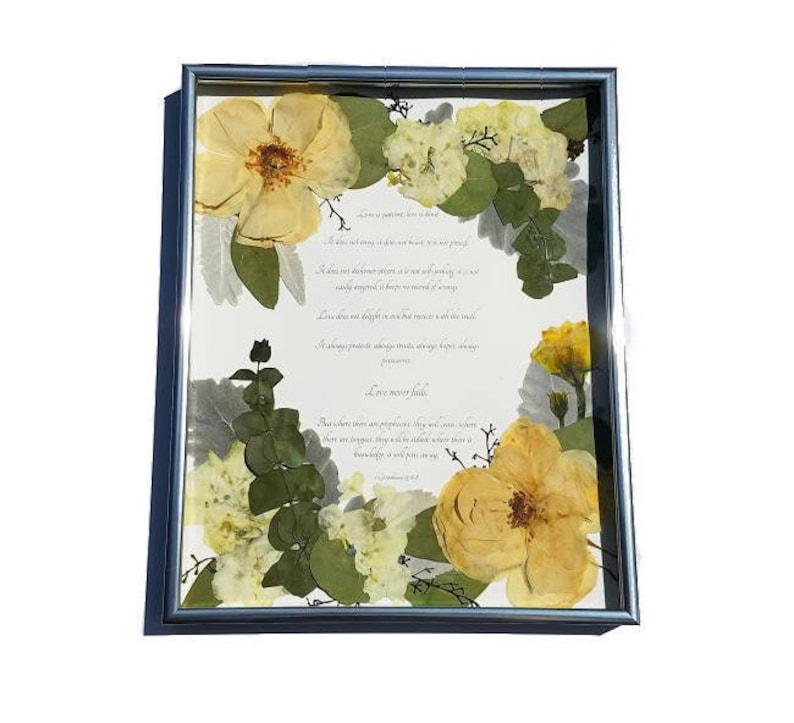 Wedding Flower Preservation  Real Pressed Flower Anniversary image 0