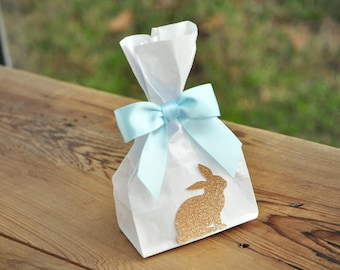 bunny favor bags etsy