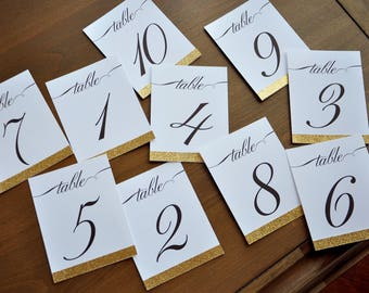 Wedding table numbers etsy more colors colourmoves