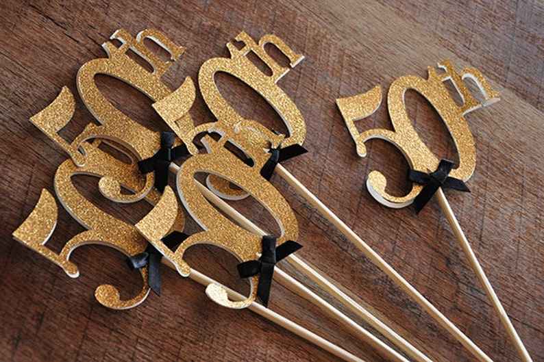 50th Birthday Centerpiece.    50th Anniversary Centerpiece Set image 0