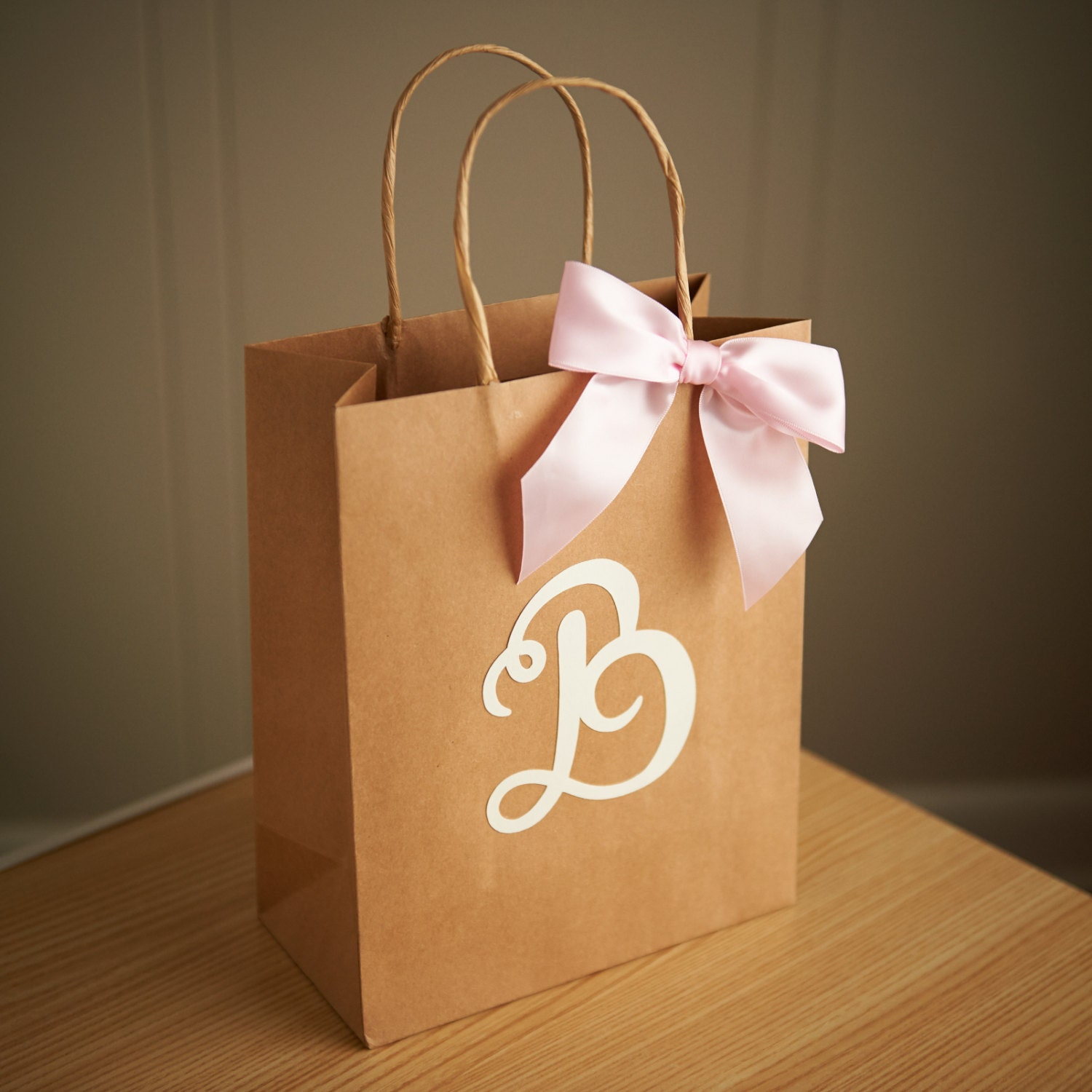 Wedding Paper Gift Bags: Gift Bags For Wedding Guests. Large Kraft Paper Bags With