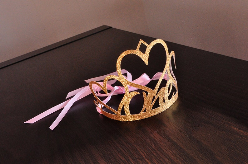 1st Birthday Crown Pink And Gold First Party