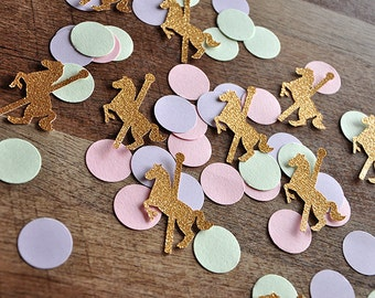 Carousel Horse Party Decorations.  Handcrafted in 2-5 Business Days.  Merry-Go-Round Horse Confetti 50CT.