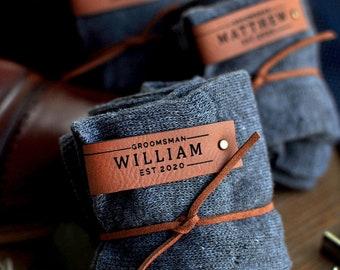 Personalized Groomsmen Socks. (Qty. 1) Socks for Groomsmen. Groomsman Proposal Gift. Gifts for Men. C1310MS LJ