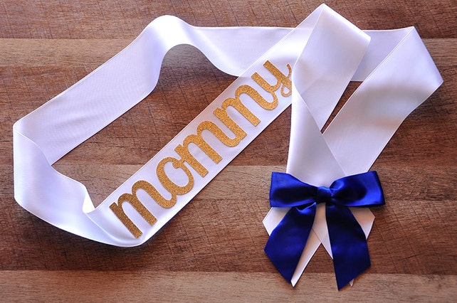 Mommy to Be Sash for Royal Prince Baby Shower.  Handcrafted in 3-6 Business Days.