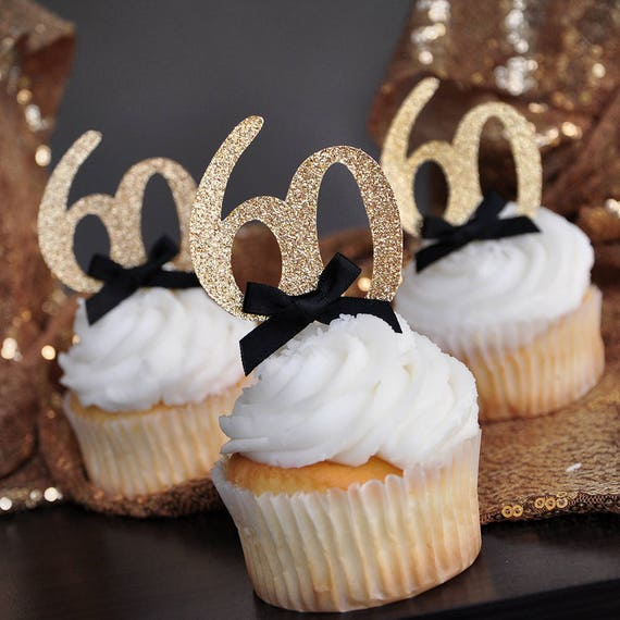 60th Birthday Party Ideas Glitter Gold Number