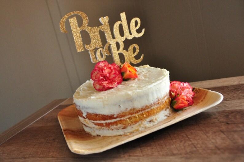 Bridal Brunch Decorations.  Bridal Shower Cake Topper. Bride image 0