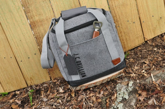 Co Worker Gift. Cooler Bag Personalized with Bottle Opener. (Qty. 1) Client Gifts. Beer Gifts for Men. S12WC.