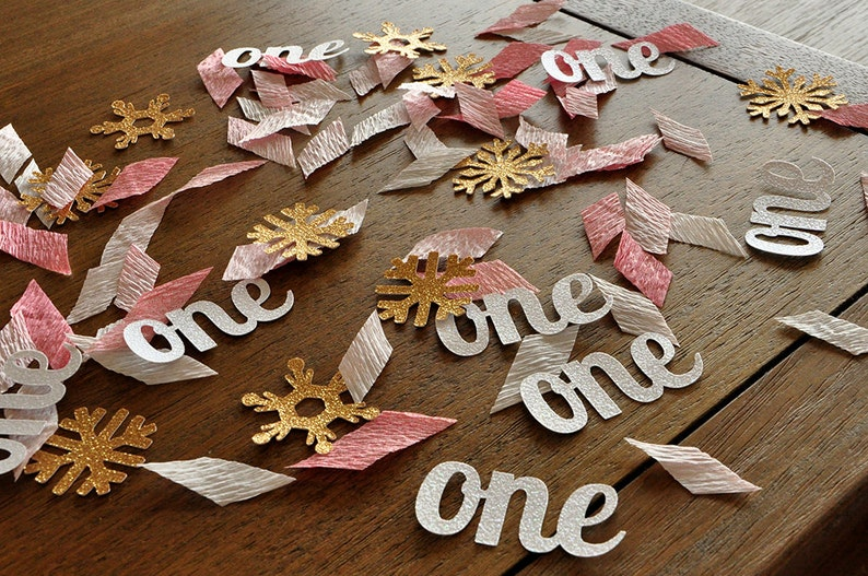 Winter Onederland Party Decorations.    Pink and Gold Party image 0