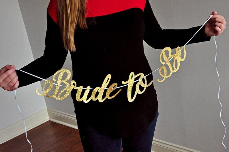 Gold Bridal Shower Decorations Bride to Be Banner Bridal Shower Banner.