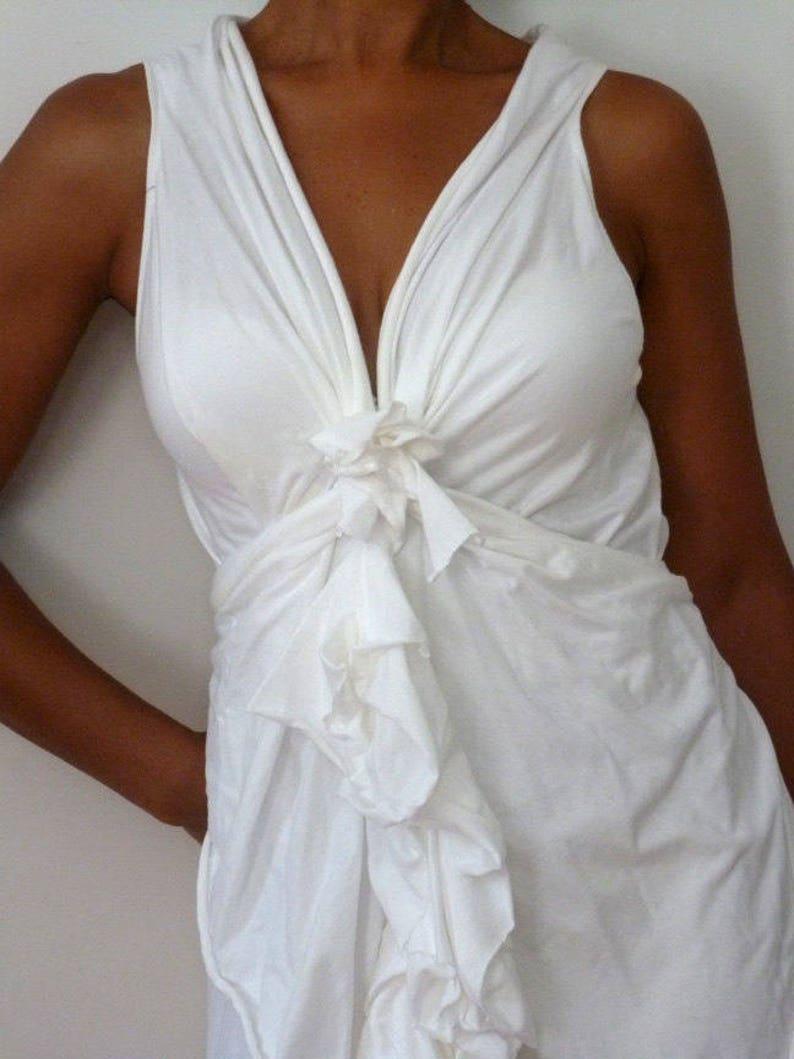 Purple cotton lycra dress with one shoulderlayered dressDesigned by Cheryl Johnston