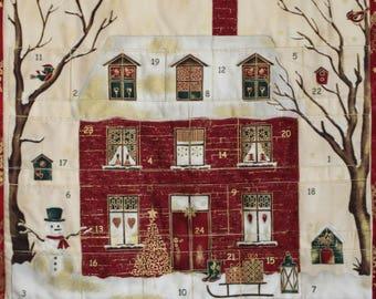 Advent Calendar  Christmas by Stof, Christmas Decoration, Wallhanging, Holiday Decor, Traditional Christmas