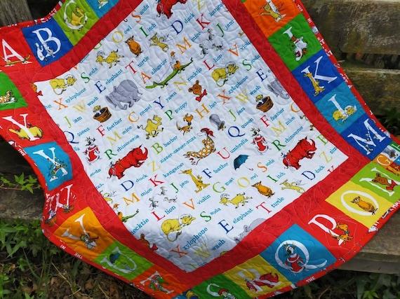 Dr Seuss Baby Quilt Abc Uni Crib, Dr Seuss Crib Bedding