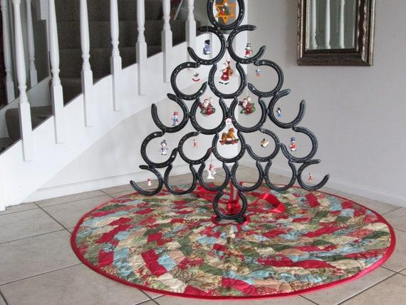 weihnachtsbaum rock land weihnachten gesteppt baum rock etsy. Black Bedroom Furniture Sets. Home Design Ideas
