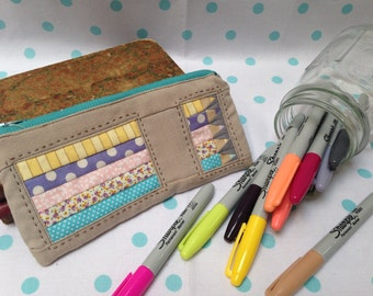 Paper Pieced Pencil Pouch