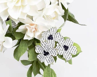 The Ernest Hemingway Bride - Winter Berries - Paper Bouquet - Customize your Style and Colors - Made To Order