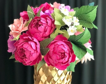 The Catherine - OOAK Paper Floral Arrangement