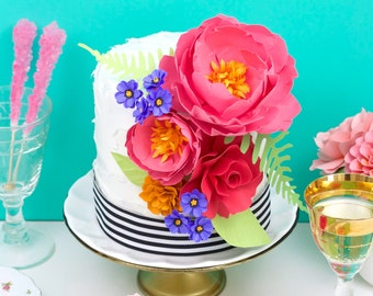 The Cake Flower Set - Handmade Paper Flowers