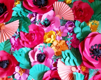 FLAMENCO DANCE Inspired Extra large Paper Flower Backdrop or Custom Colors
