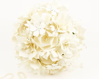 The La Crème de la Crème  Bride - Paper Bouquet