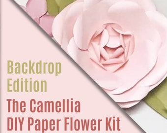 DIY Paper Flower Kit - Oh! Camellia - Backdrop Edition