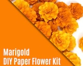 DIY KIT - The Marigold Paper Flowers - set of 5