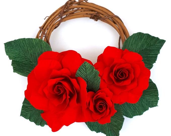 Featured listing image: Winter Rose Mini-Wreath