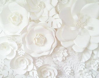 Extra large Paper Flower Backdrop - white - Custom Order