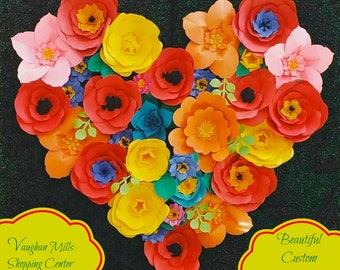 As Seen at Vaughan Mills Shopping Center and in MINGLE Magazine  - Extra large Paper Flower Backdrop - Custom Order