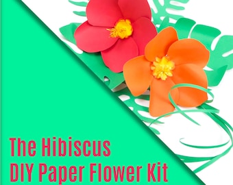 DIY Paper Flower Kit - The Hibiscus