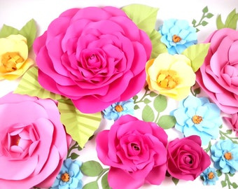 Extra large Paper Flower Backdrop   - Custom Colors