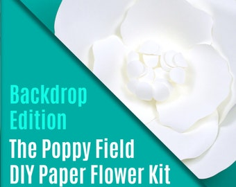 DIY Paper Flower Kit - The Poppy Field - Backdrop Edition