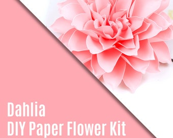 DIY Paper Flower Kit - The Dahlia Set of 3