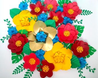 Princess Elena of Avalor inspired  paper flower backdrop