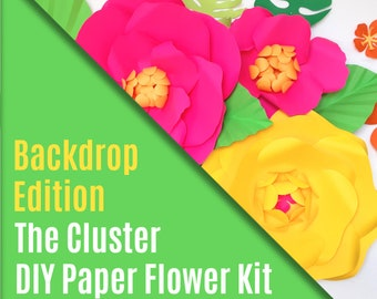 DIY Paper Flower Kit - The Cluster - Backdrop Edition