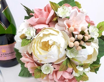 The Blush Bride - Round Style Paper Bouquet