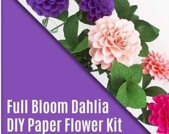 DIY Kit - The  Full Bloom Paper Dahlia