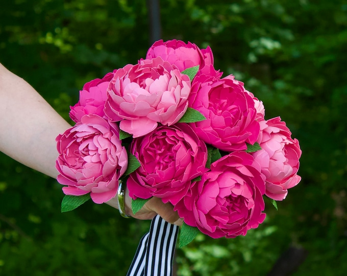 Featured listing image: The Peony - Custom Paper Flower Bouquet
