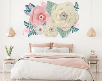 Extra large Paper Flower Backdrop  - Girl Bedroom - Custom Order