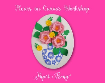 Fleurs on Canvas Workshop - Kit included