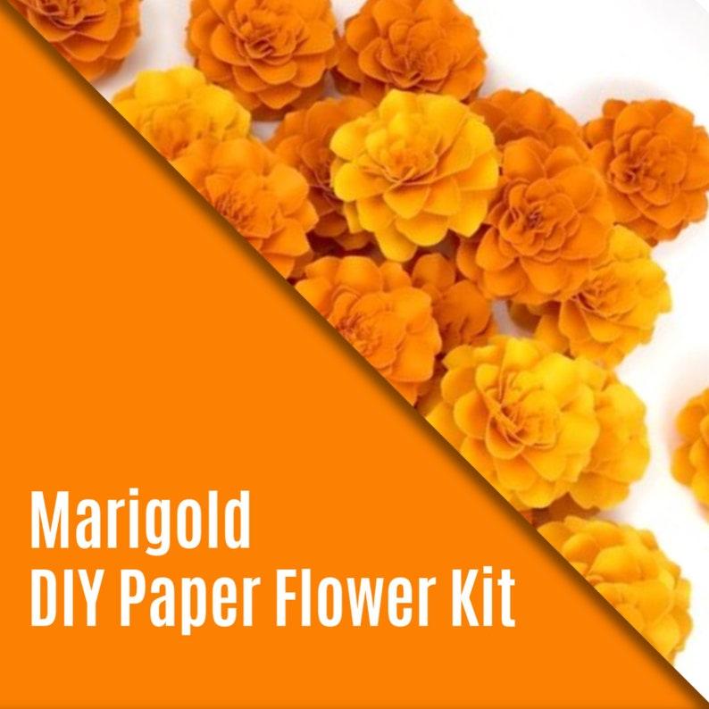Diy Kit The Marigold Paper Flowers Set Of 5